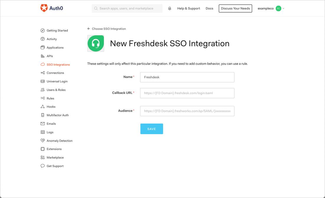 Save Integration