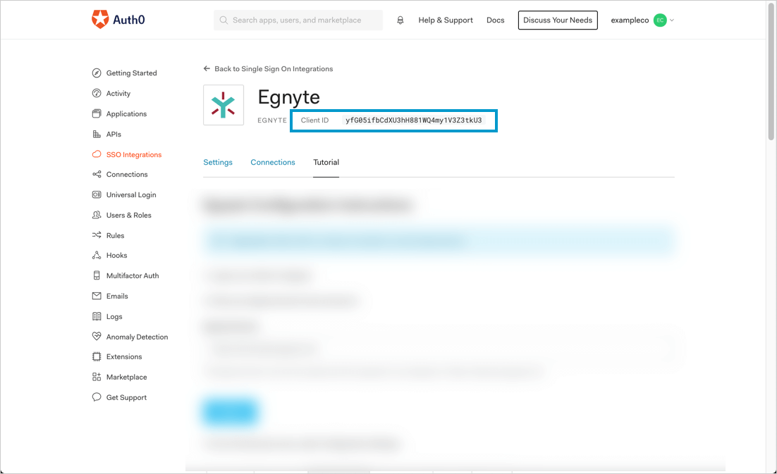 Locate Client ID