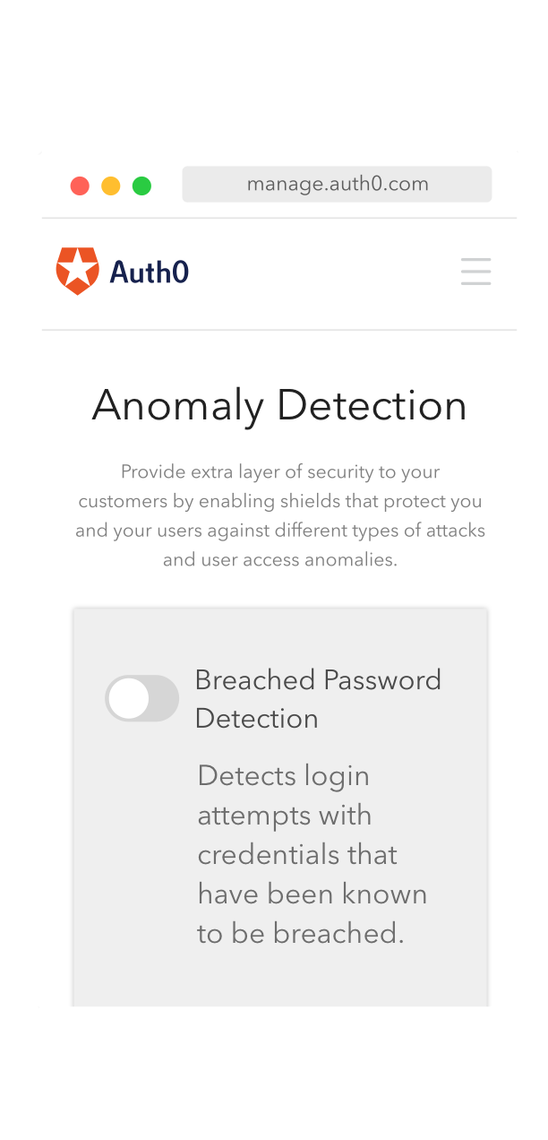Anomaly Detection with Shields