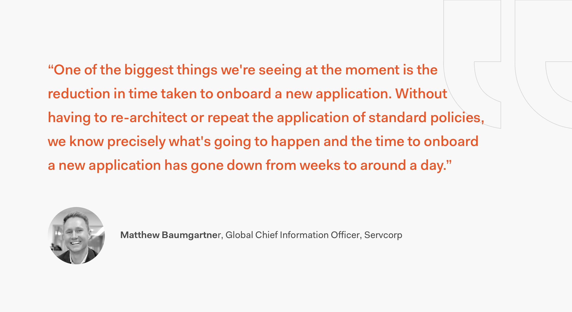 Matthew Baumgartner Quote Servcorp