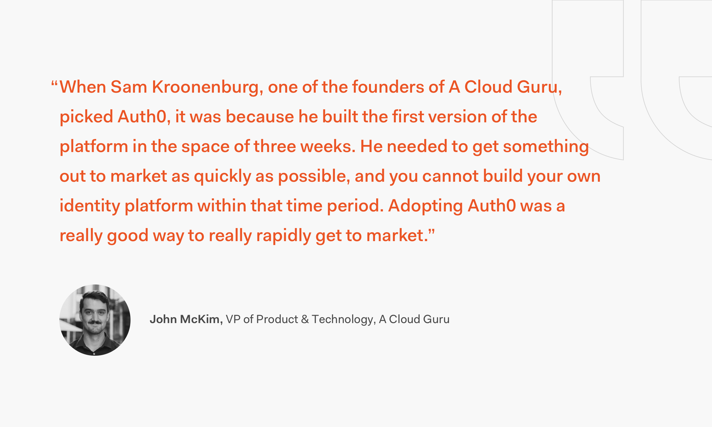 John McKim A Cloud Guru Quote