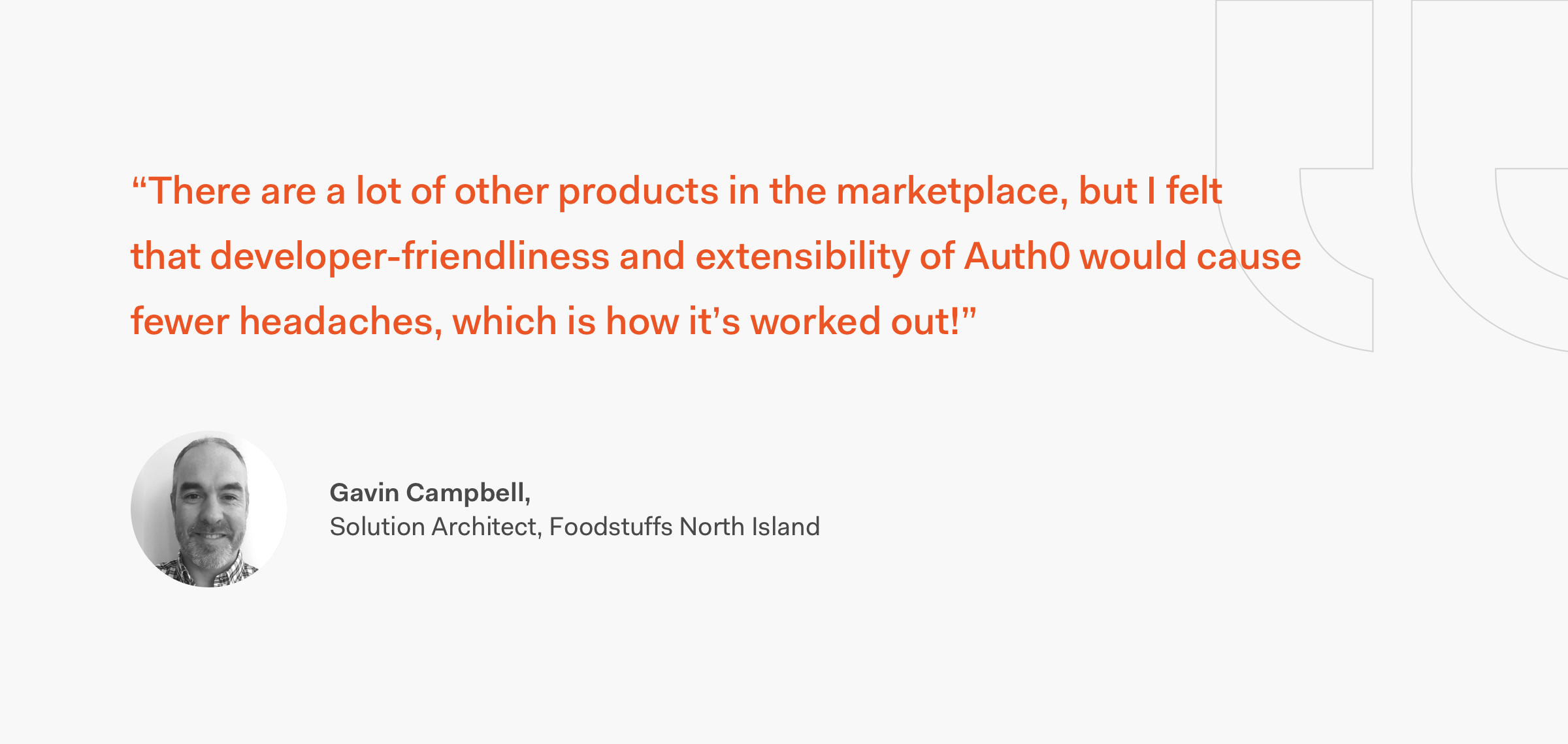 Foodstuffs North Island Gavin Campbell Quote