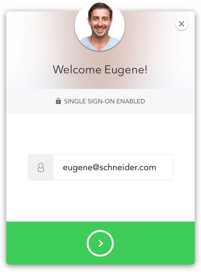 Phone with Schneider Electric app login using Lock